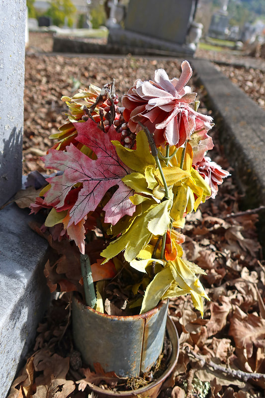 weathered cemetery bouquet
