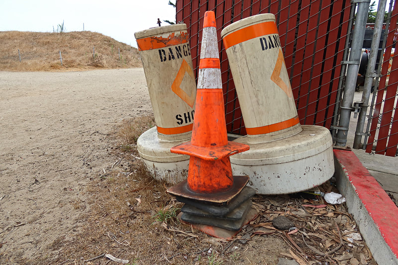 cation cones and danger buoys