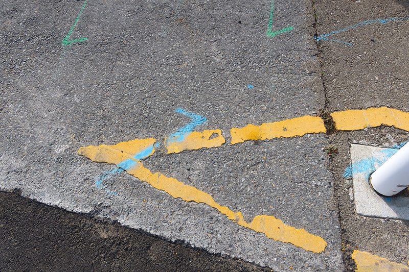 sidewalk markings
