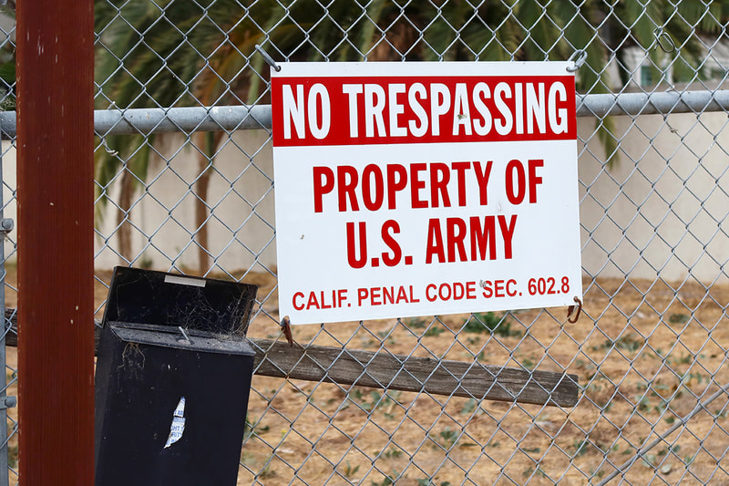 Property of Army sign