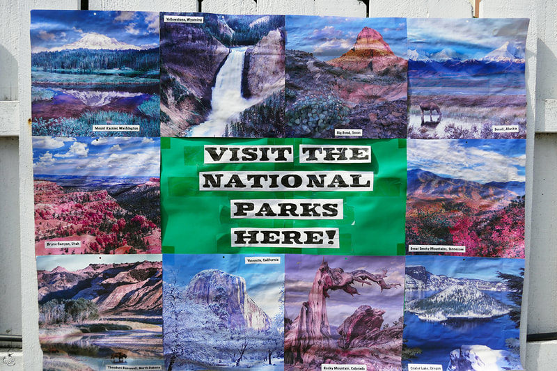 pictures of national parks on poster board