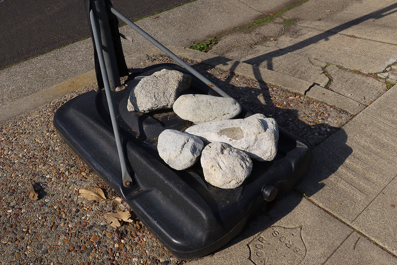 rocks used as weights