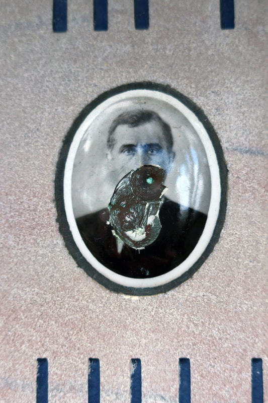 damaged enamel portrait
