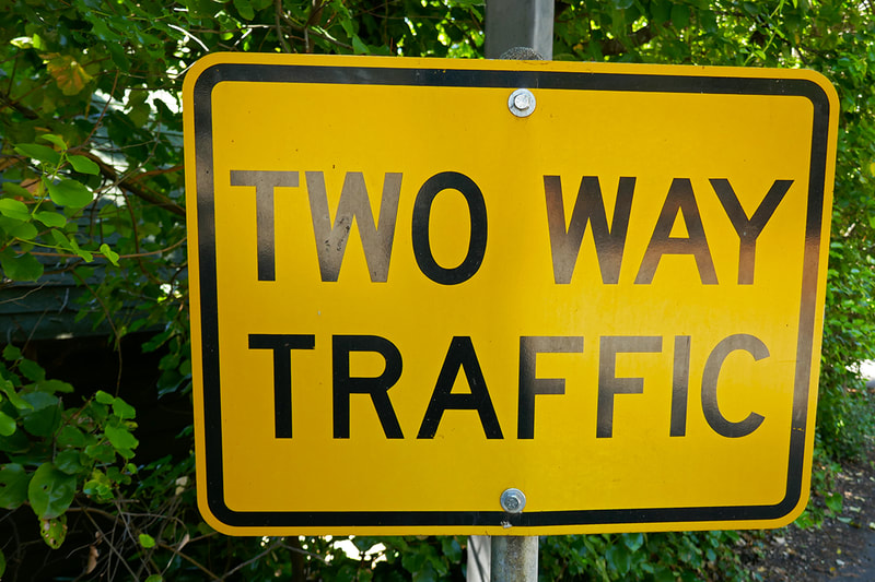 two way traffic street sign